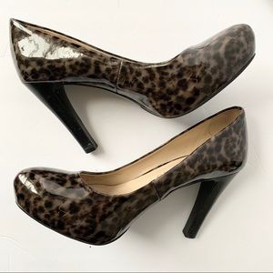 Franco Sarto Animal Print Heels